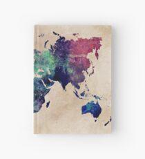 Weltkarte kalte Welt Notizbuch