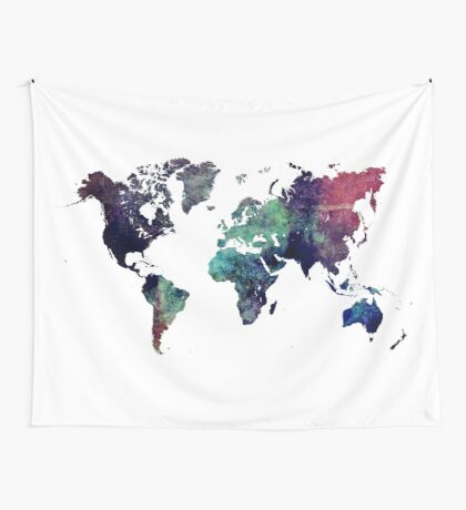 Map world art after Ice age Wall Tapestry