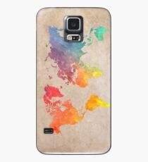 World Map maps Case/Skin for Samsung Galaxy