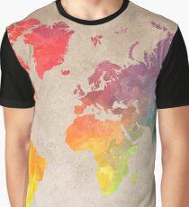 World Map maps Graphic T-Shirt