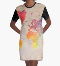 World Map maps Graphic T-Shirt Dress