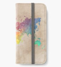 World Map maps iPhone Wallet/Case/Skin