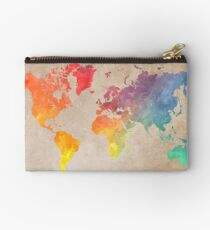 World Map maps Studio Pouch