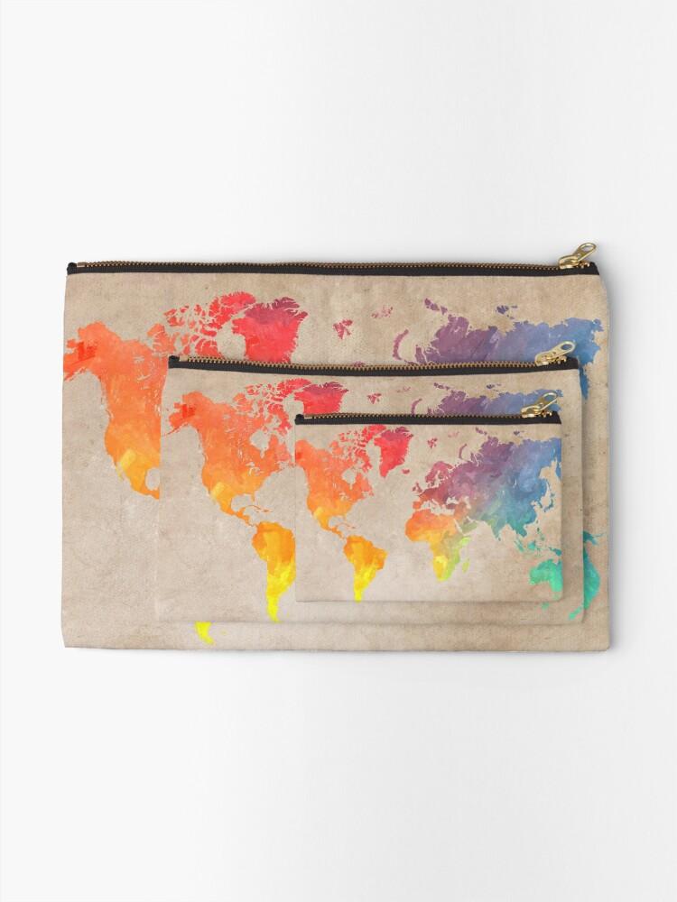 Alternate view of World Map maps Zipper Pouch