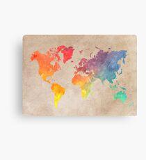 World Map maps Canvas Print