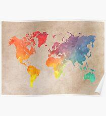 Weltkarte Karten Poster