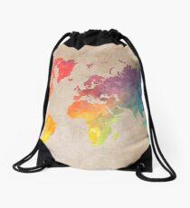 World Map maps Drawstring Bag