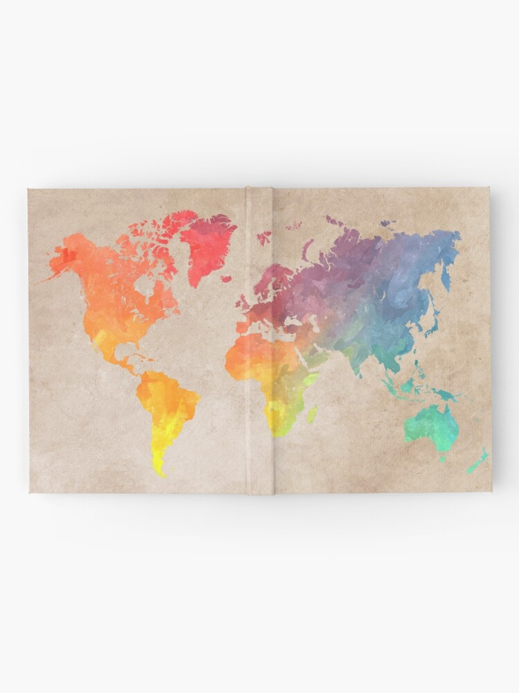 Alternate view of World Map maps Hardcover Journal