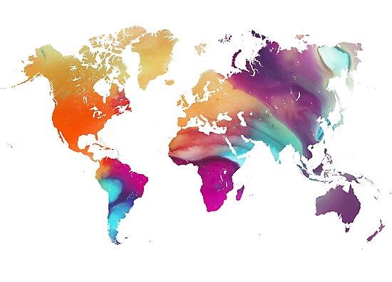 World map watercolor  by JBJart