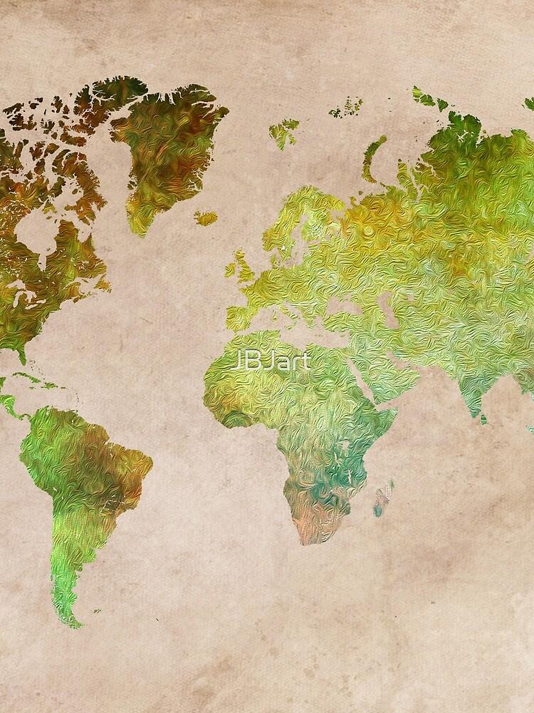 Green World Map ecology by JBJart