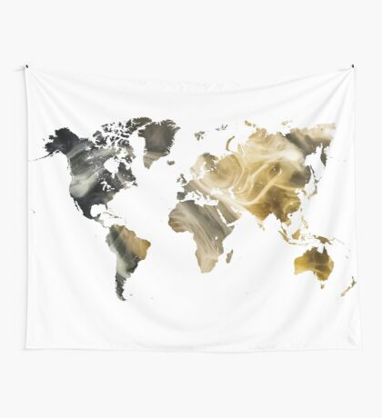 World Map Sandy world Wall Tapestry