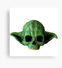Crâne Yoda Canvas Print