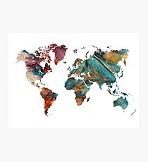 World Map triangle Photographic Print