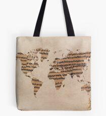 Bolsa de tela Mapa mundial de la música