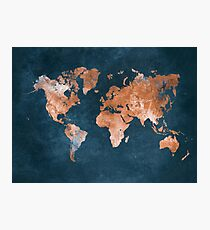 world map 15 Photographic Print