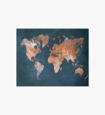 Weltkarte 15 Galeriedruck