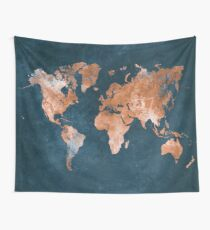 world map 15 Wall Tapestry