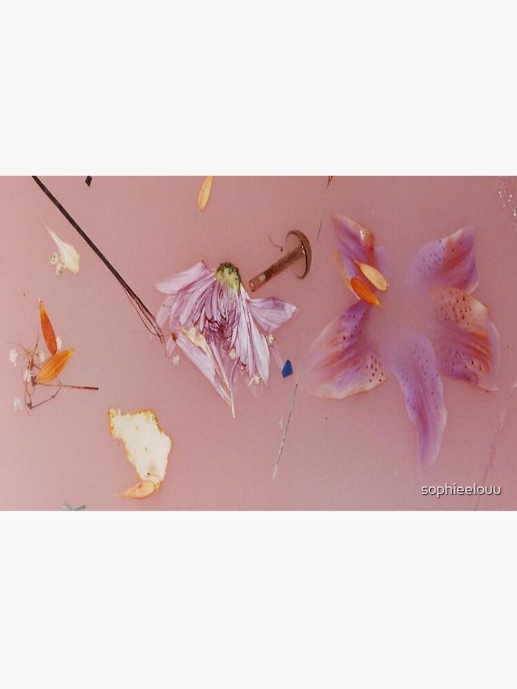 Harry Styles rosa Blumenmuster von sophieelouu
