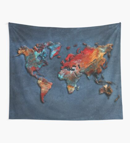World Map 2020 Wall Tapestry