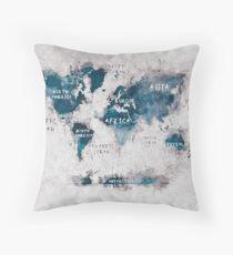 world map 13 Throw Pillow