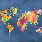 blue world map by JBJart