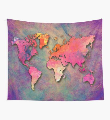 World Map special 4 Wall Tapestry