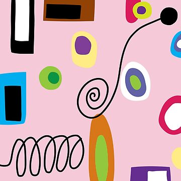 Mod Abstract Pink by ladymissneptune