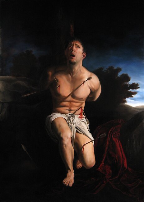 Self Portrait as St. Sebastian by armusik
