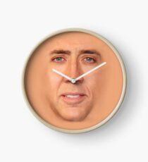 Nicholas Cage Pillow Face Clock
