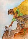 Jesus Rescues the Lost Sheep by Anne Gitto