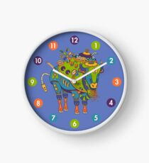 Bison, from the AlphaPod collection Clock