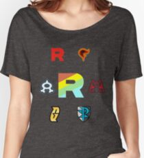 Team Rainbow Rocket - The Axis of Pokemon Villains  Women's Relaxed Fit T-Shirt