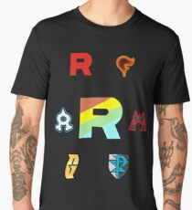 Team Rainbow Rocket - The Axis of Pokemon Villains  Men's Premium T-Shirt