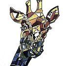 Cubism giraffe by Miles Design Art