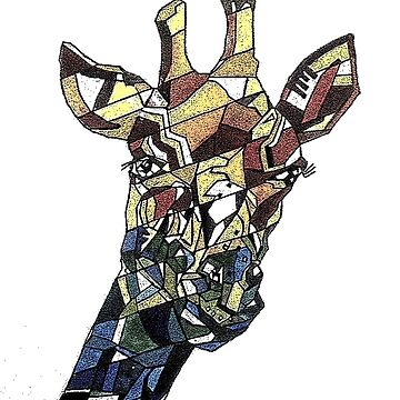 Cubism giraffe by milesdesignart