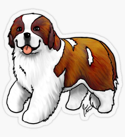 St. Bernard Transparent Sticker