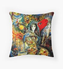 BELLA : Marc Chagall Vintage Abstract Painting Print Throw Pillow