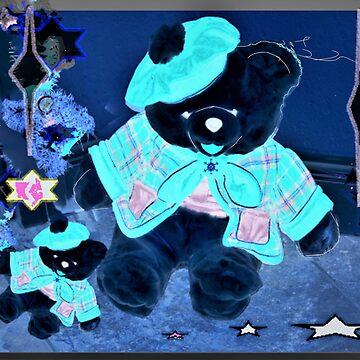Black Christmas Teddies by rbb2676