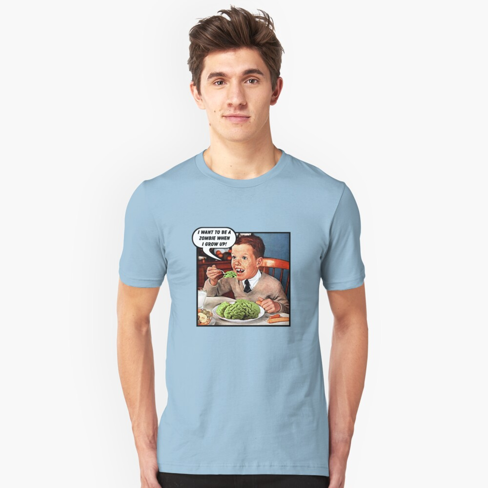 Little Tommy Always Eats His Greens! Slim Fit T-Shirt