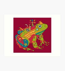 Frog, from the AlphaPod collection Art Print