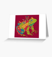 Frog, from the AlphaPod collection Greeting Card