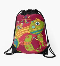 Frog, from the AlphaPod collection Drawstring Bag