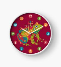 Frog, from the AlphaPod collection Clock