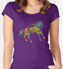 Horse, from the AlphaPod collection Women's Fitted Scoop T-Shirt