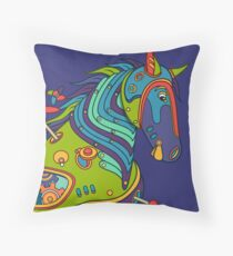 Horse, from the AlphaPod collection Throw Pillow