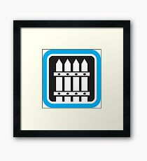 Picket Fence Icon Framed Print