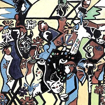 African stick people by milesdesignart