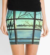 Winter Sunset Mini Skirt
