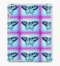 purple and blue butterflies iPad Case/Skin