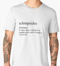 schnapsidee (German) statemant tees & accessories Men's Premium T-Shirt